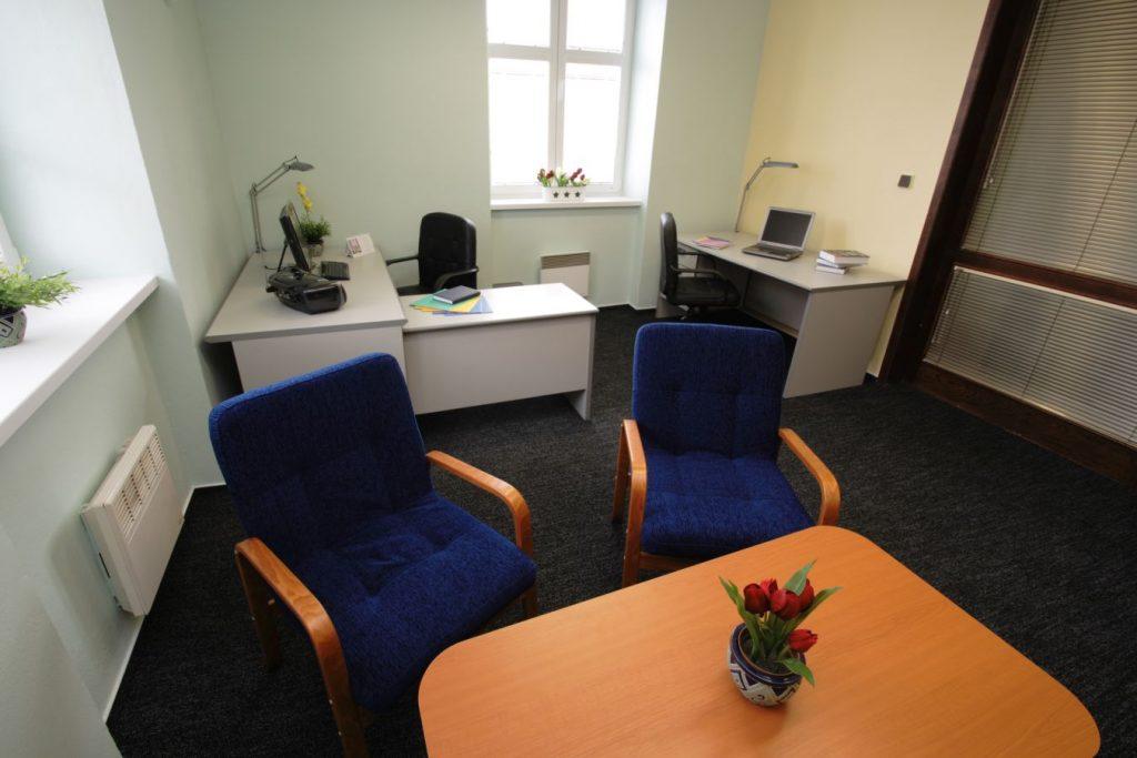 Pronájem kanceláře v Ostravě na hodinu.